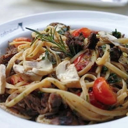 418 Linguinne al Filetto e Funghi Freschi