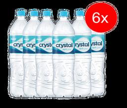 6 Und. Água Mineral Crystal Pet 1,5L