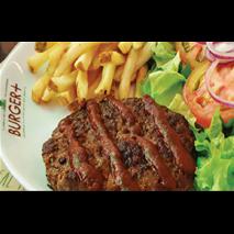 Hambúrguer simples com bbq
