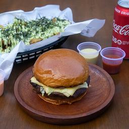 Burger + porção + refrigerante