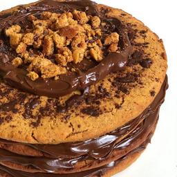 Cookie Cake com Brigadeiro - Fatia