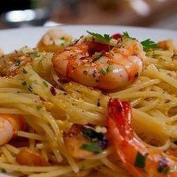 Camarão com Espaguetti