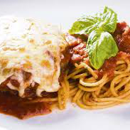 Polpetone de Carne à Napolitana com Espaguete Pasta