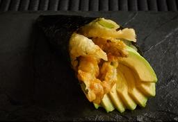 Temaki aspargo tempura e avocado