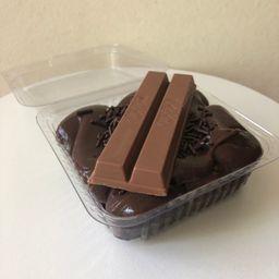 Brownie com Cobertura de Brigadeiro