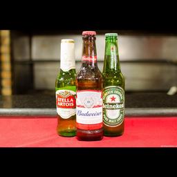 Cervejas long neck Heineken, Stella ou Budweiser