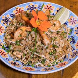 Pad thai camarão