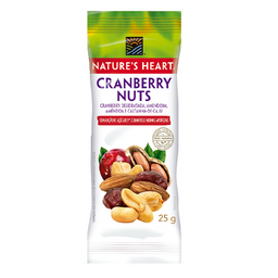 Snack Natures Heart Cranberry Nuts - 25g