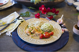 Estrogonofe de Ricota com Batata Doce e Arroz Integral + arroz