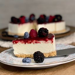 Cheesecake de frutas vermelhas - fatia 130g