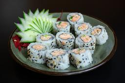 Uramaki de salmão grelhado ( 10 unid)