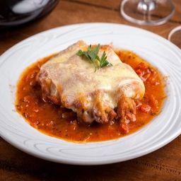 25 - Bife Parmegiana de Carne + Brinde