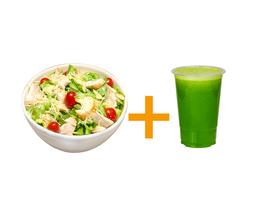 Salada especial caesar média+ suco 500ml