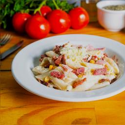 Macarrão Peron E | Presunto, Bacon e Milho