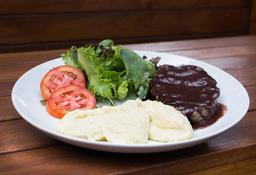 Steak de Filé ao Molho de Jabuticaba