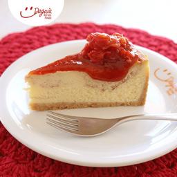 Torta Cheesecake de Goiaba - Fatia
