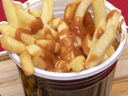 Sundae Batata Frita Ketchup de Goiabada