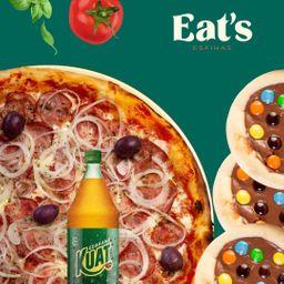 Combo Pizza Calabresa e 6 Esfihas Doces