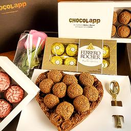 Super Cesta de Dia Das Mães - Kit Chocolapp Supreme