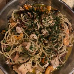 Espaguete com Frutos do Mar para 2