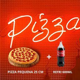 Pizza Pequena e Refrigerante