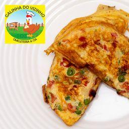 Omelete de Calabresa e Muçarela