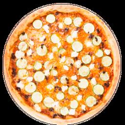 Pizza de Abobrinha com Queijo de Cabra