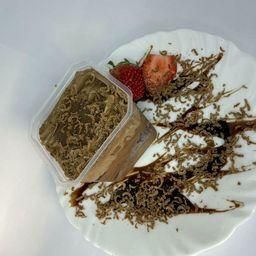 Bolo de Pote-trufado Chocolate Morango