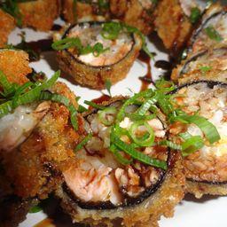 Hot roll de salmão grelhado 10 unidades
