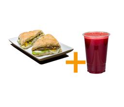 Sanduiche gourmet vegetariano+suco 500ml