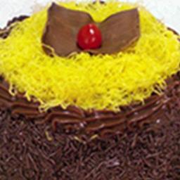 Torta de Chocolate com Fio de Ovos - Fatia
