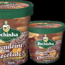 Rochinha amendoin com chocolate