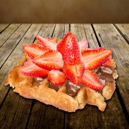 Waffle Nutella e Morango