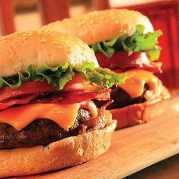 X bacon + fritas