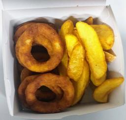 Batata Frita e Onion Rings