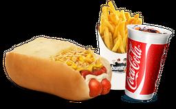 2 Hot Dog+Fritas+Refrigerante 250 ml