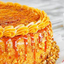 Torta de Doce de Leite Crocante - Fatia