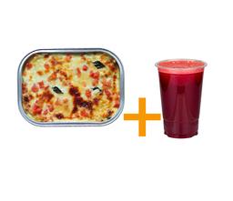 Lasagna vegetariana 380g+suco 500ml