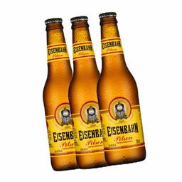 3 cerveja eisenbahn pilsen long neck 355ml