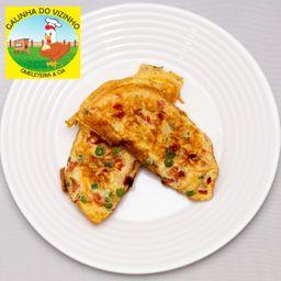Omelete de Peito de Peru e Catupiry