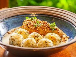 Gnocchi de Batata Doce com Frango