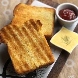 Brioche com Manteiga e Geléia - 2 Fatias