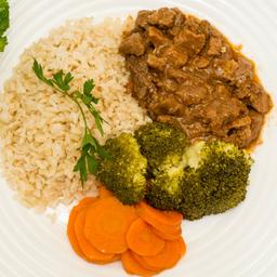 Carne picada + Arroz Integral + Legumes