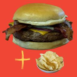 Combo Picanha Burger e Chips