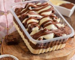 Torta delícia de brownie