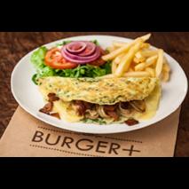 Omelete Recheada com Bacon