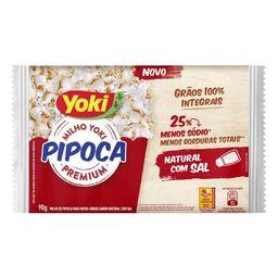 Pipóca 25% Menos Sódio Natural com Sal