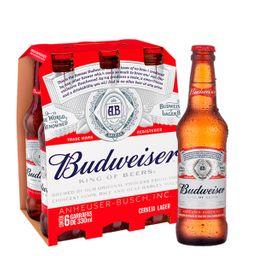 06 Un. Budweiser Long Neck 330ml