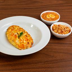 Combo Omelete com maçã ralada combo