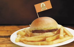 Kids Cheese Burger C/ Fritas Pq (Mini  60G de Carne)